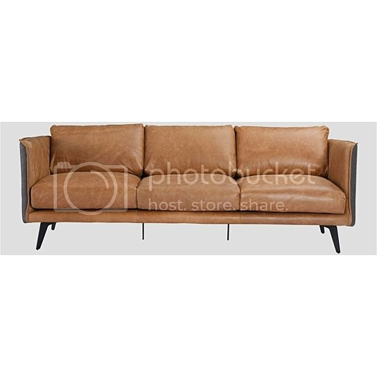 Buy MESSINA LEATHER SOFA COGNAC by Moe\'s Home Collection on Dot & Bo