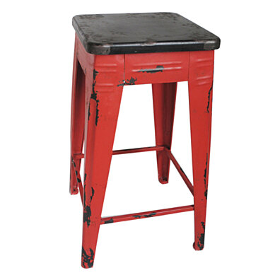 STURDY COUNTER STOOL RED