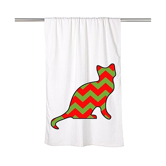 Cat Themed Kitchen Towels: Buy Christmas-Theme Chevron Cat Beach Towel By Moment Gear