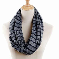 Infinity Scarf with Pocket Travel Scarf Hidden Zipper Pocket High End Fabric