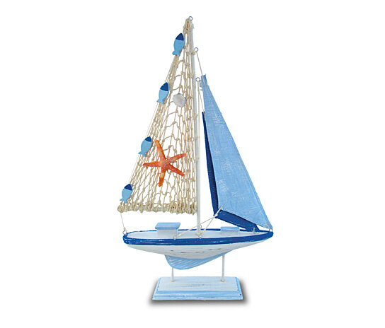 Buy 9304 Nautical And Home Decor Light Blue Stripes Boat