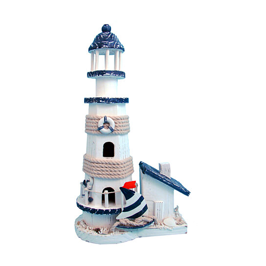 Buy 8615 Nautical And Home Decor Ocean Blue Lighthouse By Mozlly On