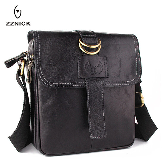 61a44aee7d Buy ZZNICK Genuine Leather Man Bag Vintage Messenger Bags Leather Men  Crossbody Shoulder Handbags Hot Sell Men s Casual Flap Bag by M.R Discounts  on OpenSky