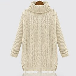 Woman's Cable Knit Turtle Neck Sweater