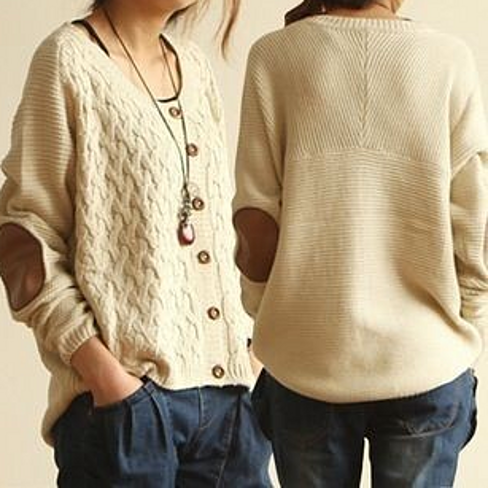 Elbow Patch Sweater Women - ShopStyle