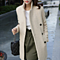 Women's Double Breasted Slim Fit Coat