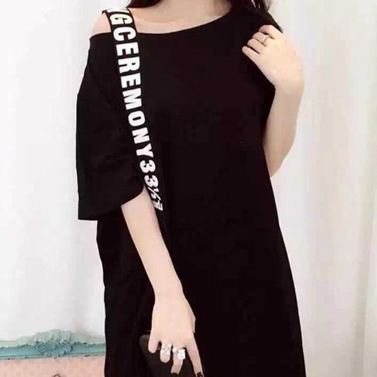 Women's Off Shoulder Kpop Top - Black 5795ac2f1a2f725604380434