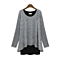 Layered Two Tone Tunic Top, Multiple Colors