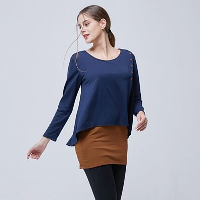 Layered Two Tone Tunic Top