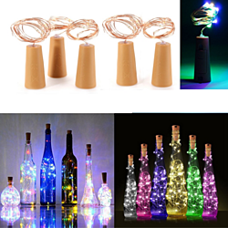5Pcs 20 Colorful LED Bottle Stopper Fairy String Lights