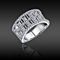 Breathtaking Simulated Diamonds Band Ring
