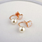 Clover and Pearl Suspension Drop Earrings