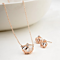 Crown Charm Necklace Earrings Set