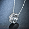 Crystal Eternity Circle Pendant Necklace