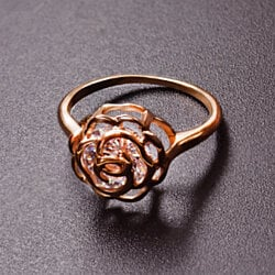 Crystal in a Rose Ring
