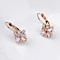 FREE SHIPPING - Crystal Laureen Earrings Italian Rosegold Plated