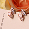 CZ Baguette Deco Flare Stud Earrings