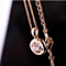 Dainty Naked Austrian Crystal Necklace - 18K Italian Rosegold Plated