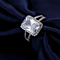 Emerald Cut Halo Simulated Diamond Ring
