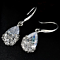 HOLIDAY SPECIAL: Faceted Crystal Teardrop Earrings / Necklace