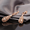 Filigree Bottled Hollow Necklace Earrings Set - 18K Italian Rosegold Plated