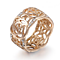 18K Rose Gold Floral Filigree Ring, in Rose Gold or Platinum