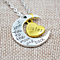 I Love You To The Moon and Back - Daughter Mom Dad Grandma Grandpa Sister Necklace