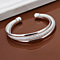 Interlocking Bangle Bracelet in Sterling Silver