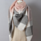 Oversized Colorblock  Fashion Wrap Scarf