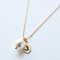 Pearl and Leaf Initial Charm Necklace