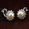 Pearls and Crystals Clip Earrings