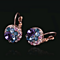 18k White Or Rose Gold Plate Austrian Crystal Drop Earrings