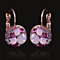 Pink Periwinkle Drop Earrings