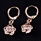 Rose Crystal Dangle Earrings