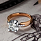 SPECIAL - Two Tone Solitaire Ring Rosegold Platinum Plated