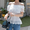 Eyelet Off the Shoulder Blouse - Plus Sizes Too