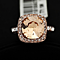 Cushion Cut Ring - 18K Italian Rosegold Plated or Platinum Plated
