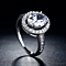 Special: The Admirable Oval Cut Halo Crystal Ring Platinum Plated