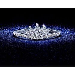 Holiday Special: Tiara Marquise Silver Plated Ring