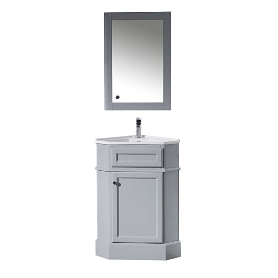 Buy Hampton 27 Inch Corner Bathroom Vanity With Medicine Cabinet By