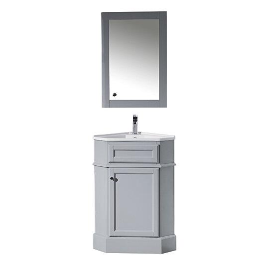 Buy Hampton 27 Inch Corner Bathroom Vanity With Medicine Cabinet By Myhomeandbath Com On Dot Bo