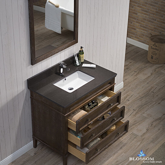 Buy Blossom Bordeaux 36 Inch Vanity Set With Mirror And