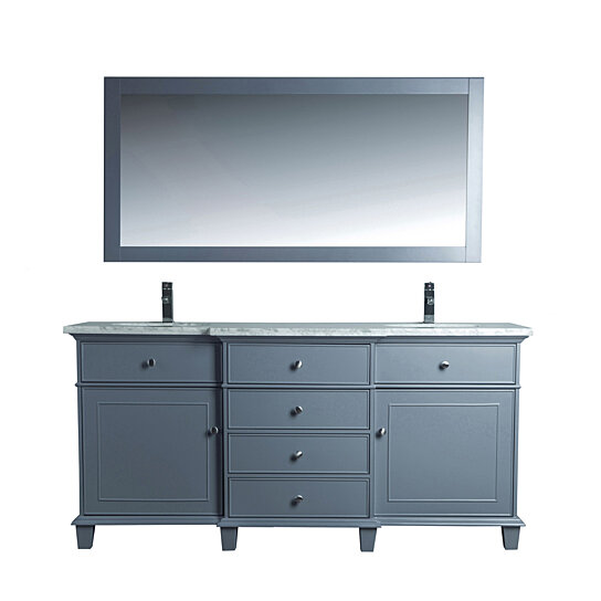 Buy Cadence 72 Inch Double Sink Bathroom Vanity With Mirror By On Dot Bo