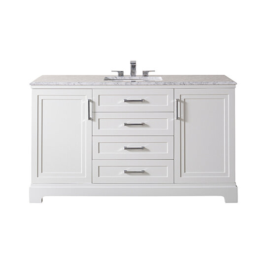 Idlewind 60 Inch White Single Sink