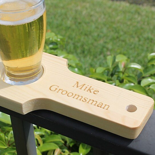 Wedding Gift Ideas For Beer Lovers : Buy Personalized Beer Flight Set - Natural Finish by My Personal ...