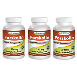 3 Pk Forskolin 20% 250 mg 60 Capsules by Best Naturals