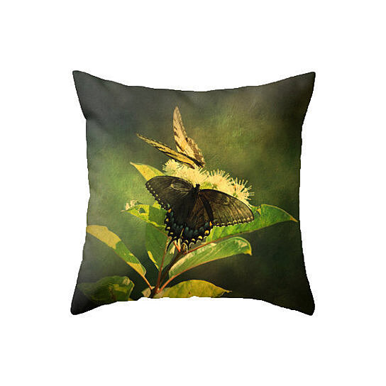 Buy Butterfly Pillow, Nature Pillow, 16x16 Pillow, Nature - gift under 50, Home Decor, Throw ...