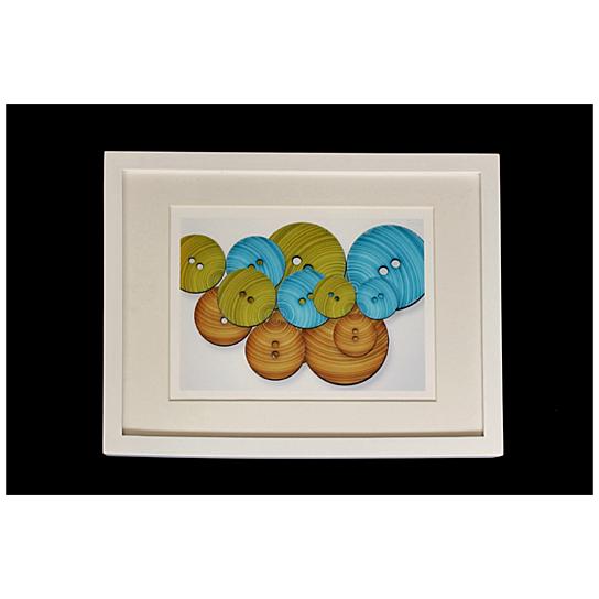 Buy Framed Matted Print Collage Of Round Buttons Fine