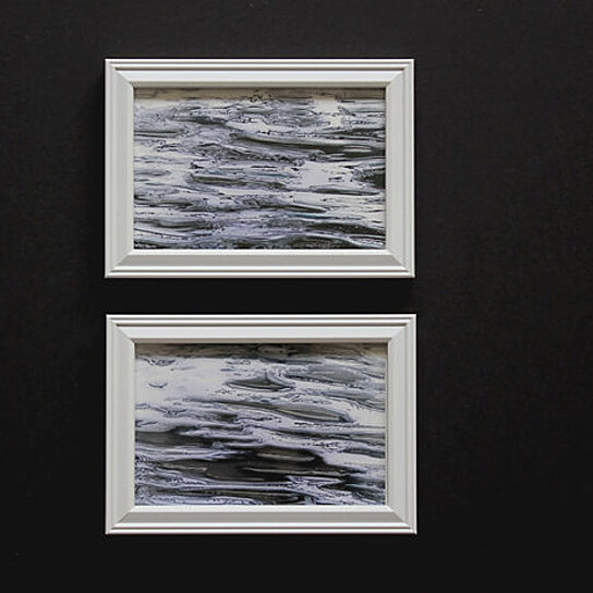 Buy set of 2 framed prints 4x6 texture of water surface for Photography prints to buy