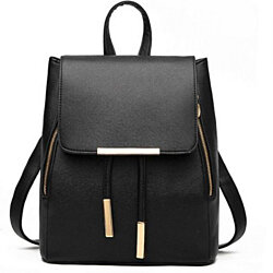 Vegan Leather Small Flap Travel Backpack: 8 Colors  BP-01